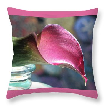 Drowsy Calla Lily Throw Pillow by Angela Davies