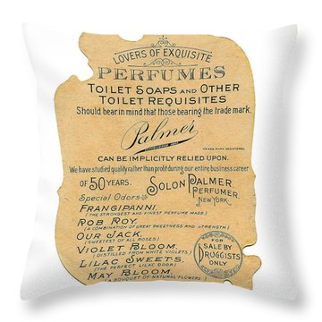 Throw Pillow featuring the photograph Druggists by ReInVintaged