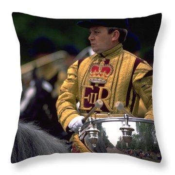 Drum Horse At Trooping The Colour Throw Pillow