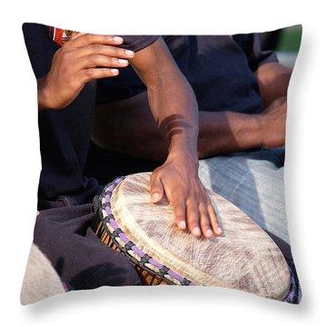 Drum Rhythm Throw Pillow