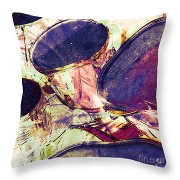 Drum Roll Throw Pillow
