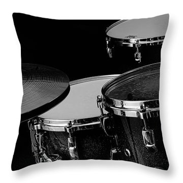 Drum Set Collection Throw Pillow
