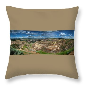 Drumheller Panorama Throw Pillow