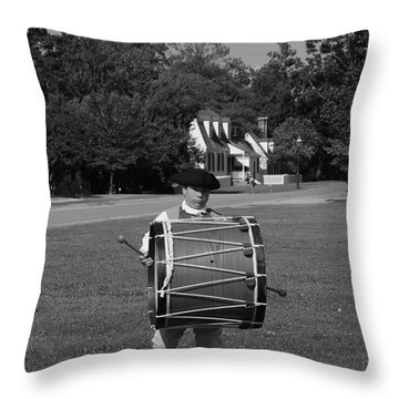Drummer Boy Throw Pillow by Eric Liller