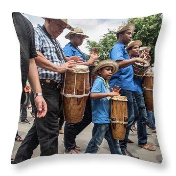 Drummer Boy In Parade Throw Pillow