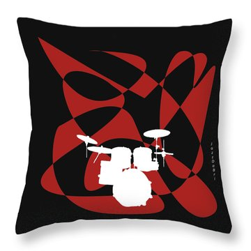 Drums In Black Strife Throw Pillow