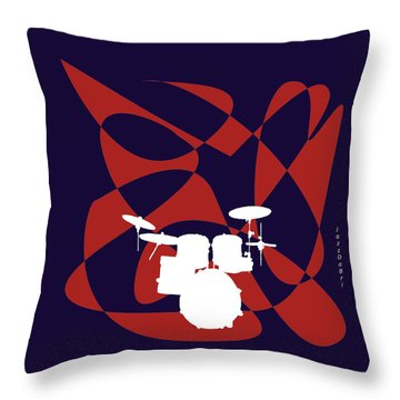 Drums In Purple Strife Throw Pillow
