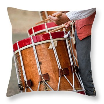Drums Of The Revolution Throw Pillow