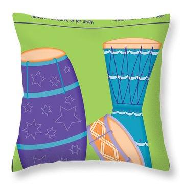 Drums - Thoreau Quote Throw Pillow