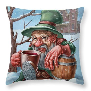 Drunkard Throw Pillow