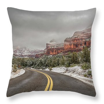 Boynton Canyon Road Throw Pillow