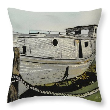 Dry Docked Throw Pillow by Terry Honstead