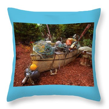 Throw Pillow featuring the photograph Dry Dock Art by Thom Zehrfeld