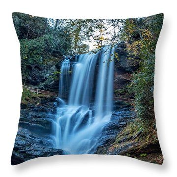 Dry Falls From The Base Throw Pillow