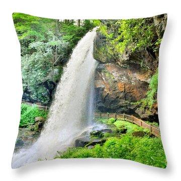 Dry Falls Highlands North Carolina 2 Throw Pillow