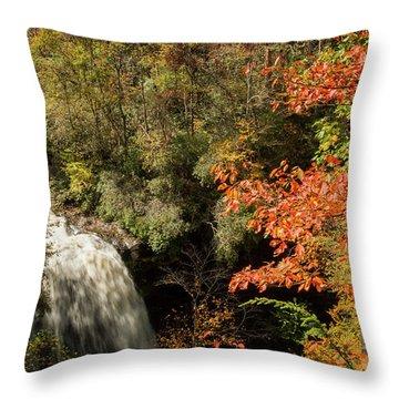 Dry Falls In North Carolina Throw Pillow