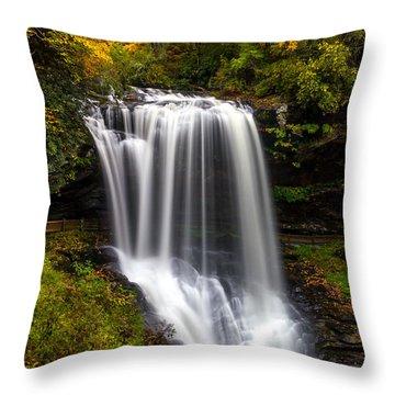 Dry Falls In October  Throw Pillow