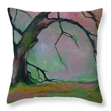 Dry Forest Throw Pillow