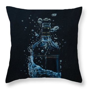 Dry, Bottle Art Throw Pillow
