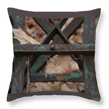 Dry Leaves And Old Steel-iii Throw Pillow
