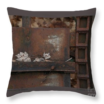 Dry Leaves And Old Steel-iv Throw Pillow