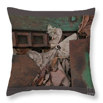 Dry Leaves And Old Steel-v Throw Pillow