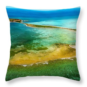 Dry Tortugas Throw Pillow