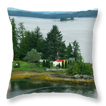 Dryad Point Lighthouse Throw Pillow