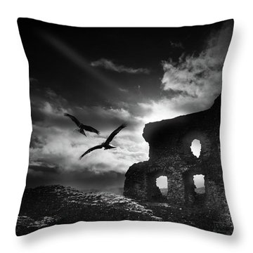 Dryslwyn Castle 3b Throw Pillow