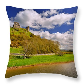 Dryslwyn Casle 1 Throw Pillow