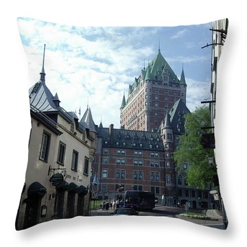 Throw Pillow featuring the photograph du Fort Chateau Frontenac by John Schneider