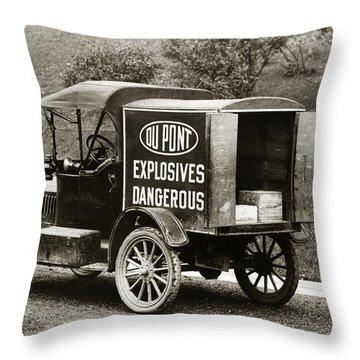 Du Pont Co. Explosives Truck Pennsylvania Coal Fields 1916 Throw Pillow