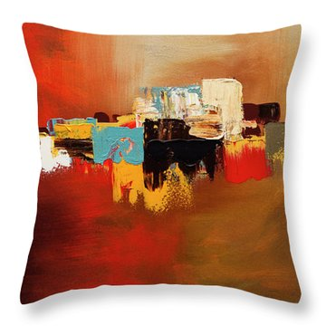 Throw Pillow featuring the painting Du Soleil by Carmen Guedez