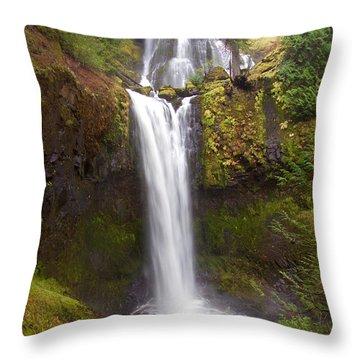 Dual Cascade Throw Pillow