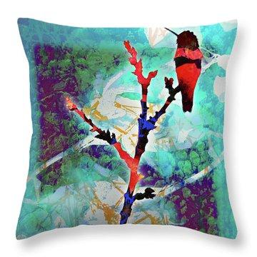 Dual Roses Throw Pillow by Robert Ball