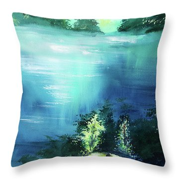 Throw Pillow featuring the painting Duality by Anil Nene
