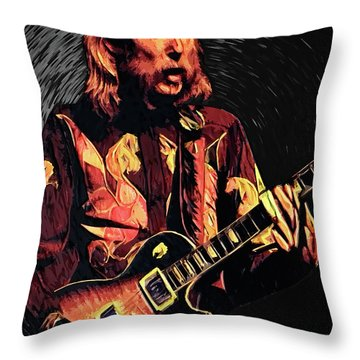 Duane Allman Throw Pillow