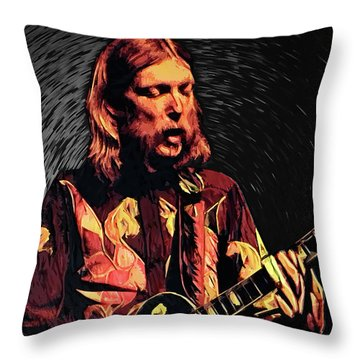Rock Allman Brothers Throw Pillows