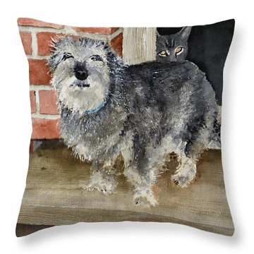 Throw Pillow featuring the painting Dub And Tiger by Sam Sidders