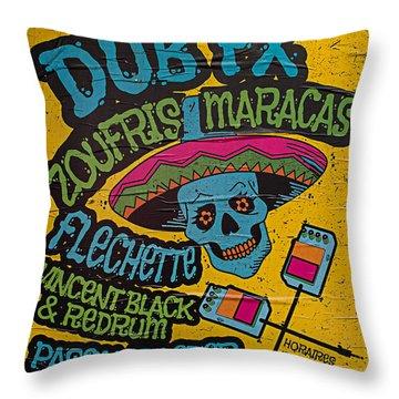 Dub Fx And Zoufris Maracas Poster Throw Pillow