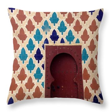 Dubai Doorway Throw Pillow