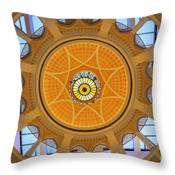 Throw Pillow featuring the photograph Dubai Mall Dome  by Juergen Held