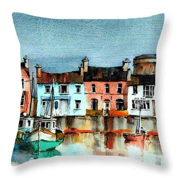 Dublin ... Skerries Harbour Throw Pillow