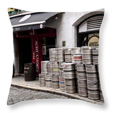 Dublin Beer Kegs Throw Pillow by Rae Tucker