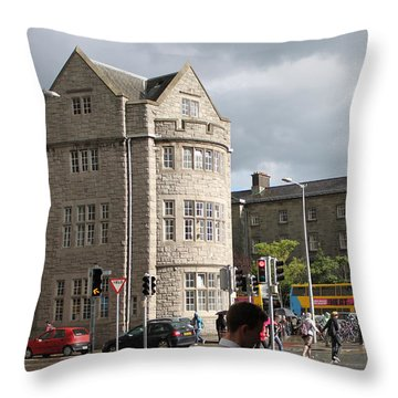 Dublin Near Pearse Street Throw Pillow