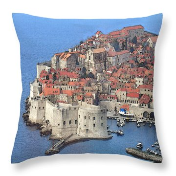 Dubrovnik  Throw Pillow by Fred Jinkins
