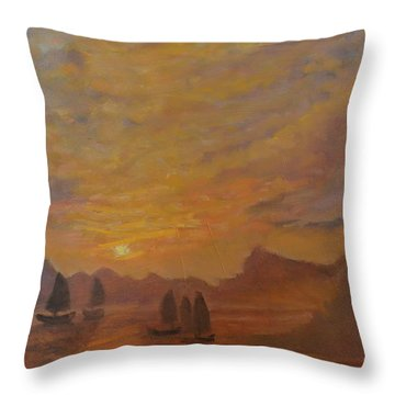 Dubrovnik Throw Pillow by Julie Todd-Cundiff