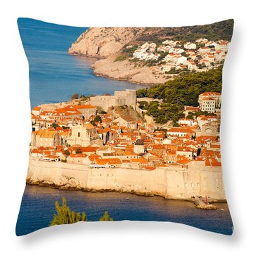 Dubrovnik Old City Throw Pillow