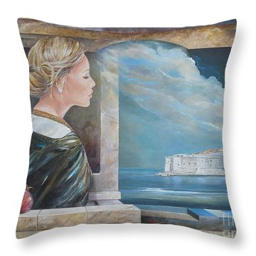 Dubrovnik On My Mind Throw Pillow