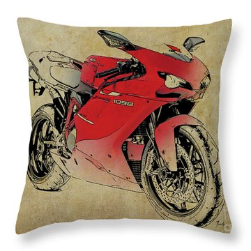 Ducati 1098s 2007, Original Artwork For Fathers Day Gift Throw Pillow